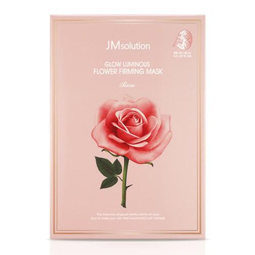 Лифтинг-маска для коррекции овала лица JM Solution Glow Luminous Flower Lift-Up V MASK Rose