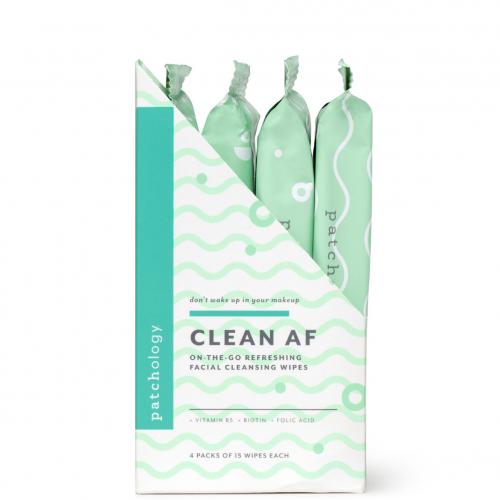 Серветки для зняття макіяжу Patchology Clean AF On-the-Go Refreshing Facial Cleansing Wipes