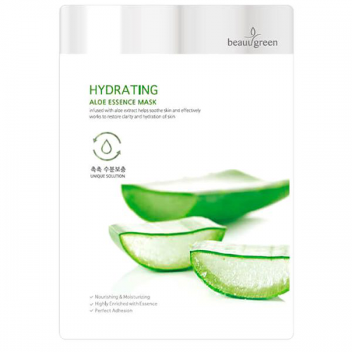 Зволожуюча тканинна маска BeauuGreen Hydrating Aloe Essence Mask