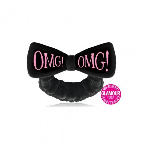 Бант-пов'язка для фіксації волосся чорна Double Dare OMG! Mega Hair Band Black