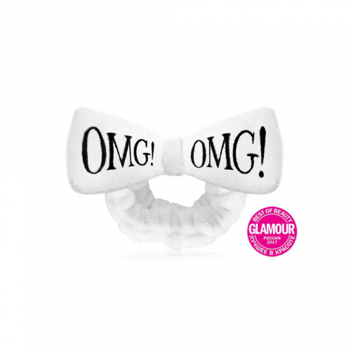 Бант-пов'язка для фіксації волосся біла Double Dare oMG! Mega Hair Band White