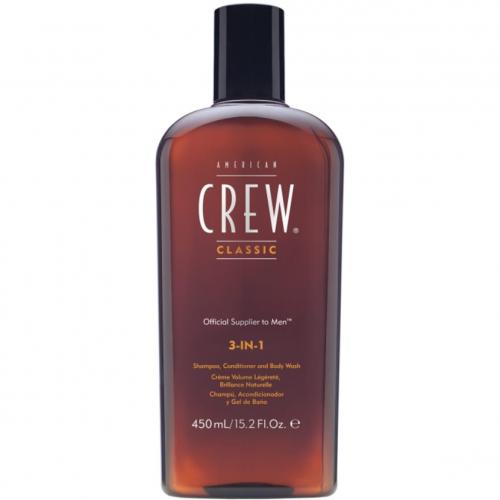 Чоловічий засіб по догляду за волоссям і тілом American Crew 3-in-1