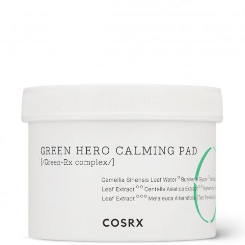 Успокаивающие пилинг-диски с экстрактом зеленого чая COSRX One Step Green Hero Calming Pad