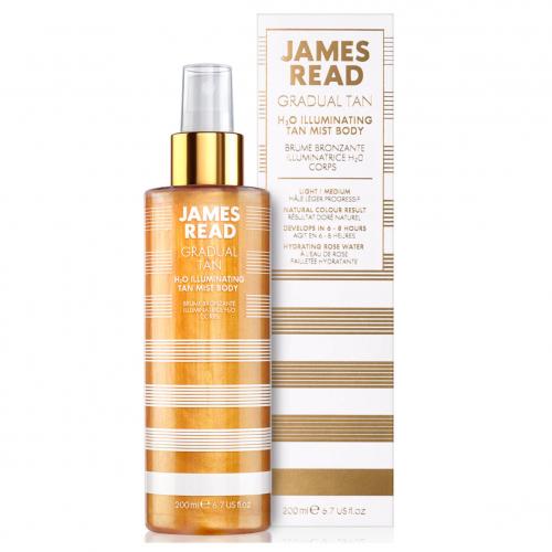 Мерцающий спрей для тела с эффектом загара James Read H2O Illuminating Body Mist