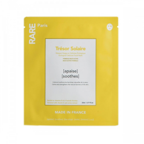 Заспокійлива тканинна маска Rare Paris Tresor Solaire