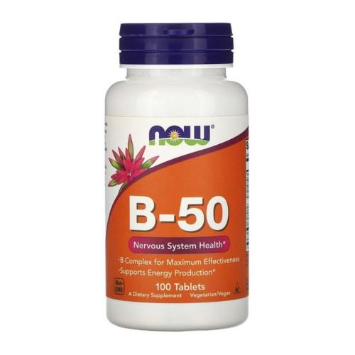 Вітаміни для підтримки ЦНС в капсулах Now Foods B-50