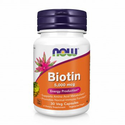 Біотин в капсулах Now Foods Biotin 5000