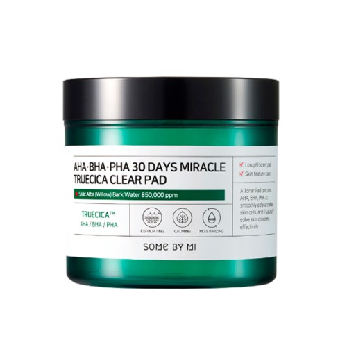 Очищающие пилинг-диски Some By Mi AHA BHA PHA 30 Days Miracle Truecica Clear Pad