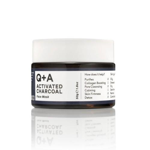 Очищающая маска для лица Q+A Activated Charcoal Face Mask
